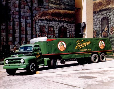 Vernors Ginger Ale Truck In Color C. 1950